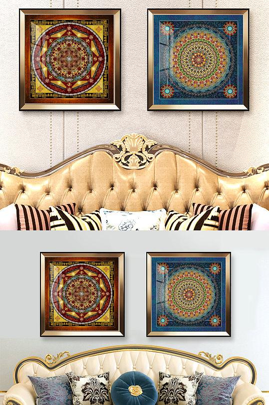 古典欧式奢华印花方巾图案-众图网