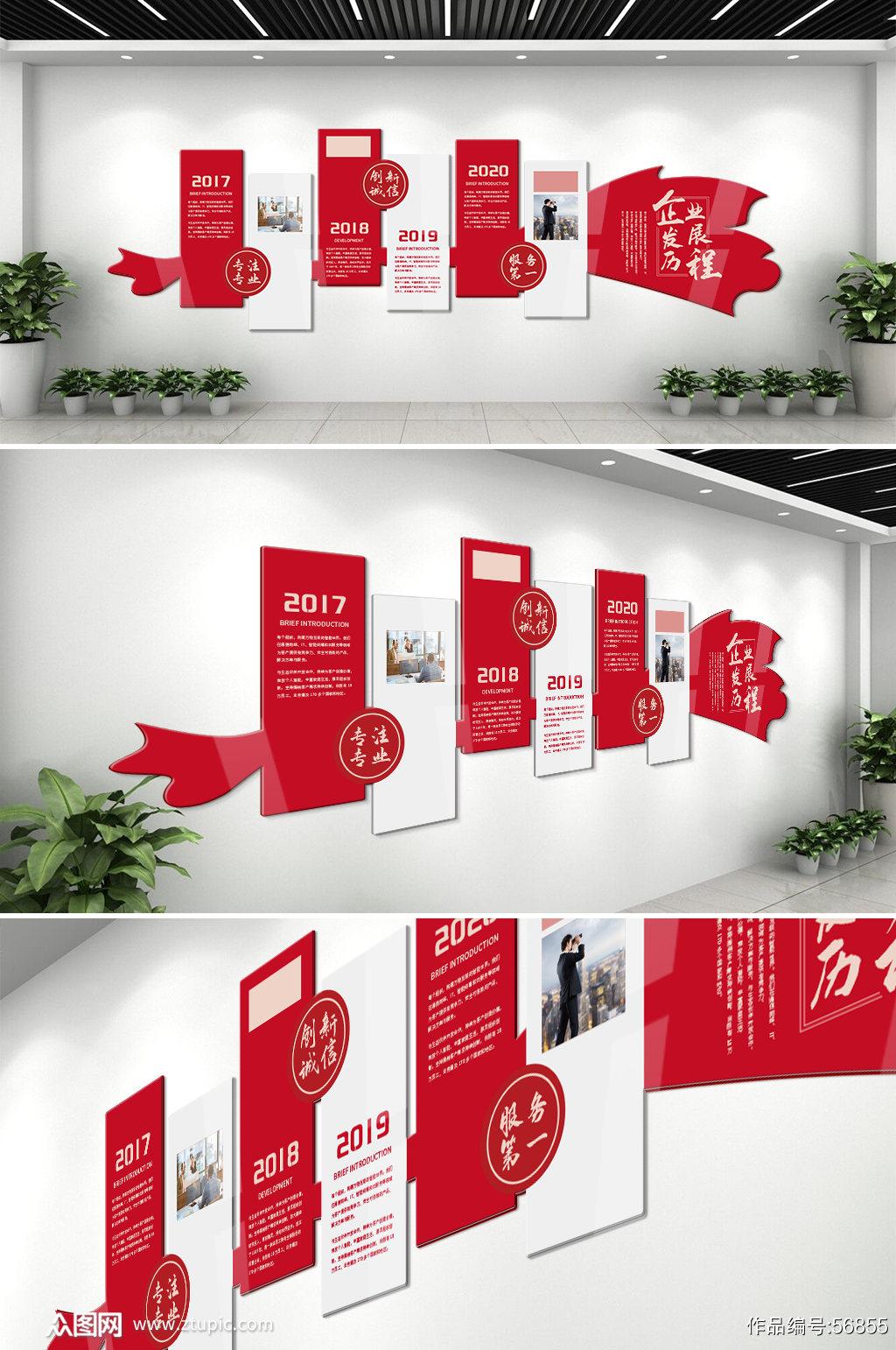 企业文化墙公司发展历程素材