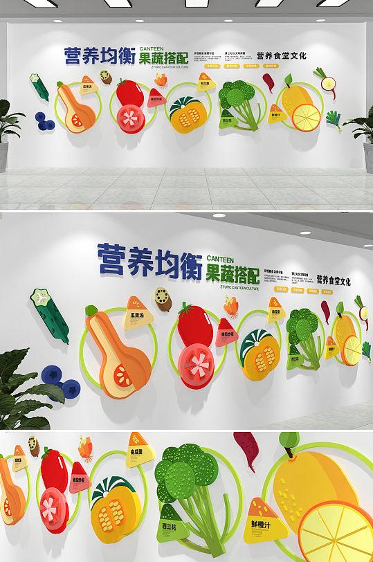 食品安全 营养均衡校园酒店食堂餐饮学校企业文化墙