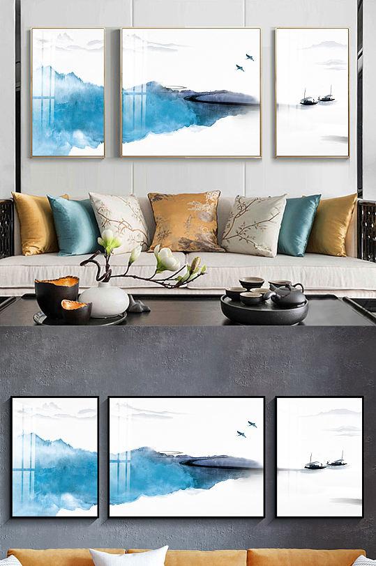 新中式水墨意境三联装饰画-众图网