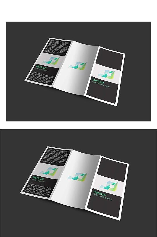 黑色三折页样机贴图-众图网