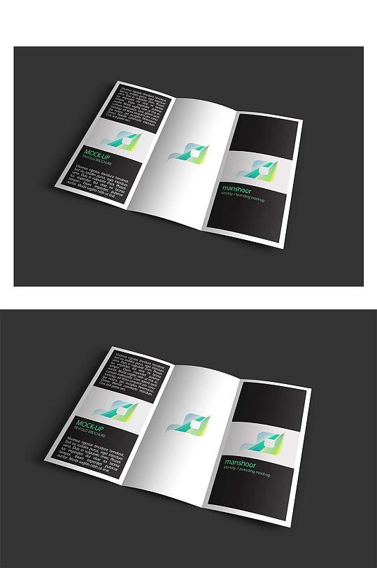 三折页样机VI贴图-众图网