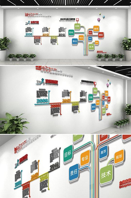 通用企业发展文化墙-众图网