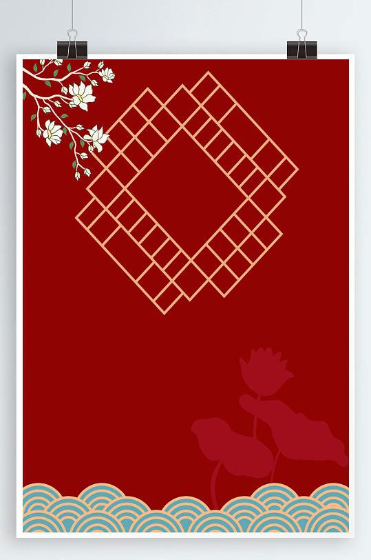 红色海报背景图片-众图网
