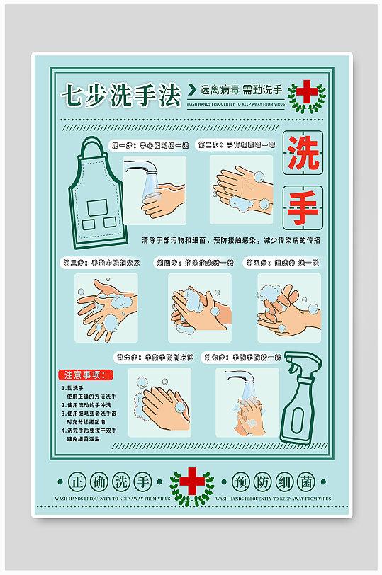 疫情病毒七步洗手法细菌医院卫生-众图网