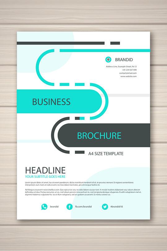 线条画册封面设计图片-众图网