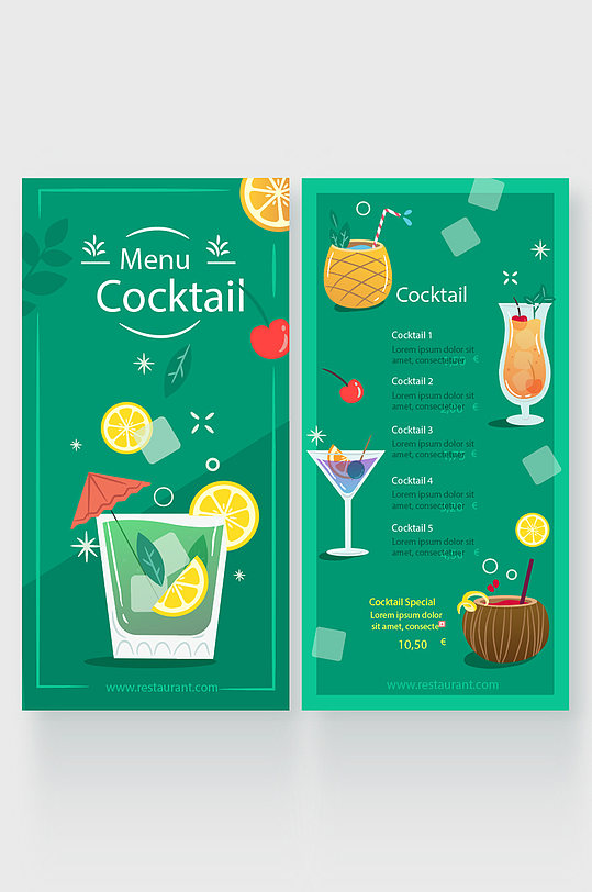 奶茶果汁菜单图片-众图网