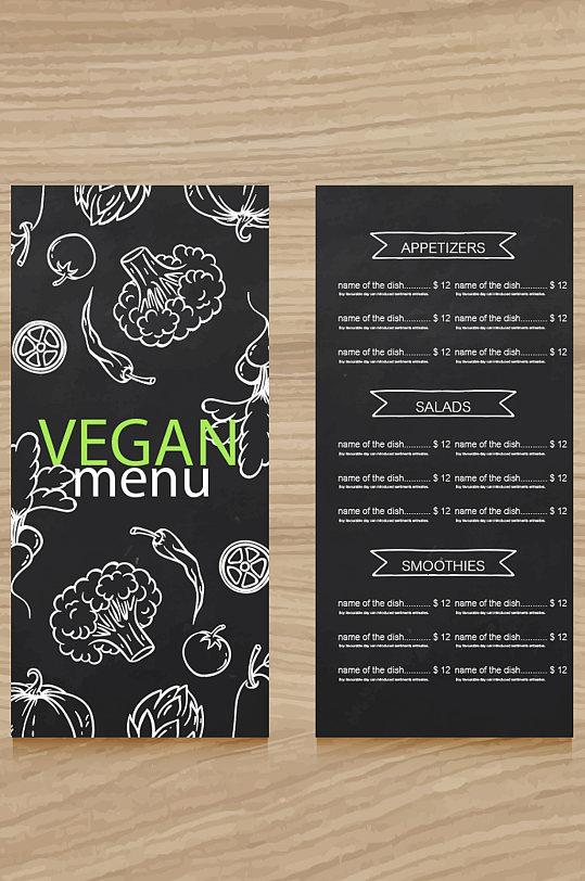 黑色菜单模板设计-众图网
