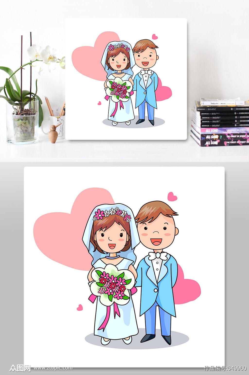 西式婚礼新娘新郎人物素材素材