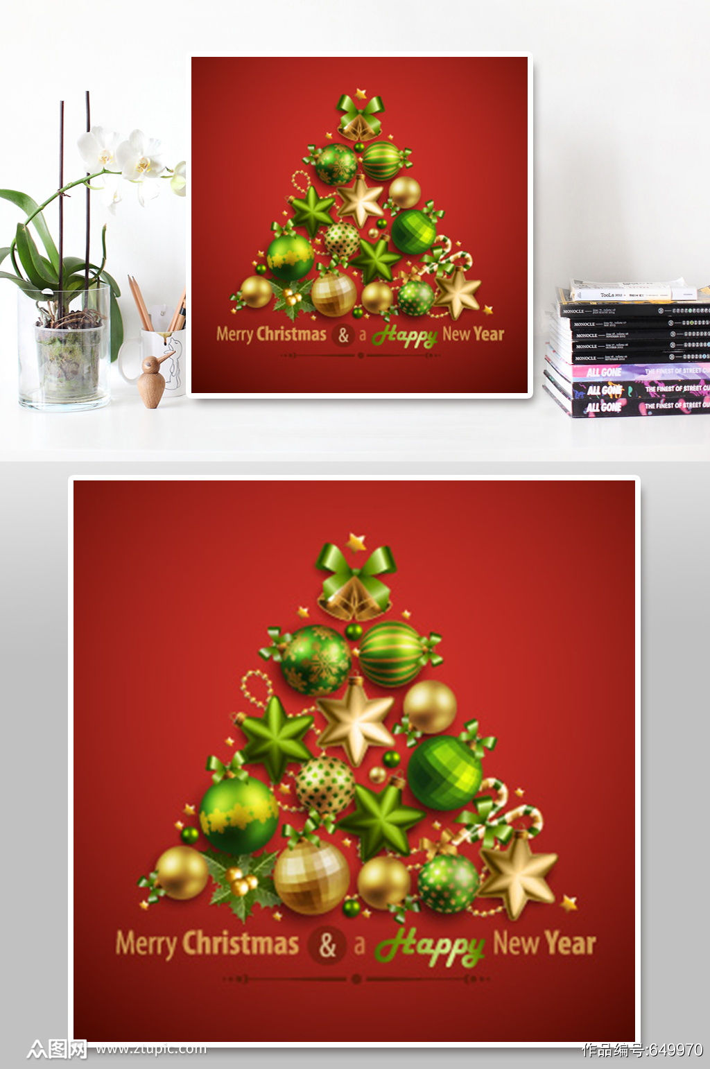 红色圣诞节背景素材素材
