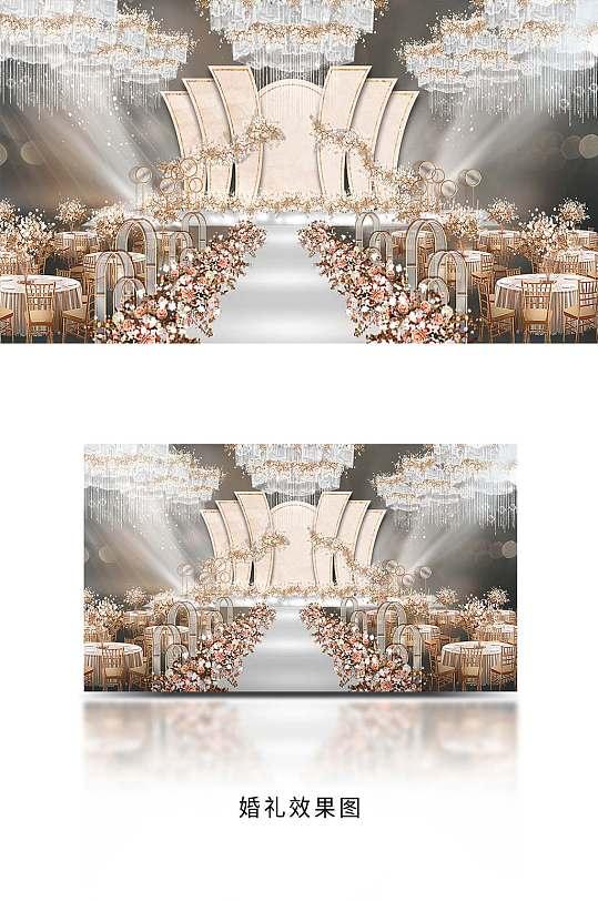 香槟色婚礼效果图-众图网