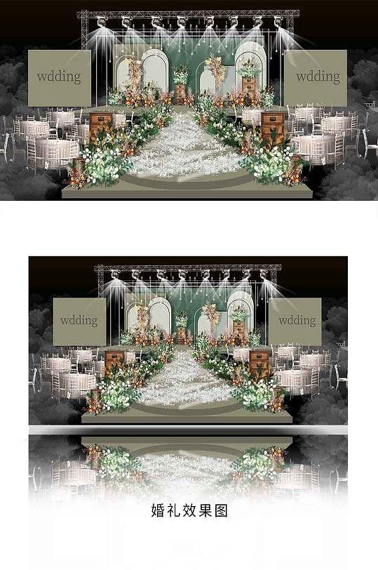 绿色婚礼效果图设计-众图网