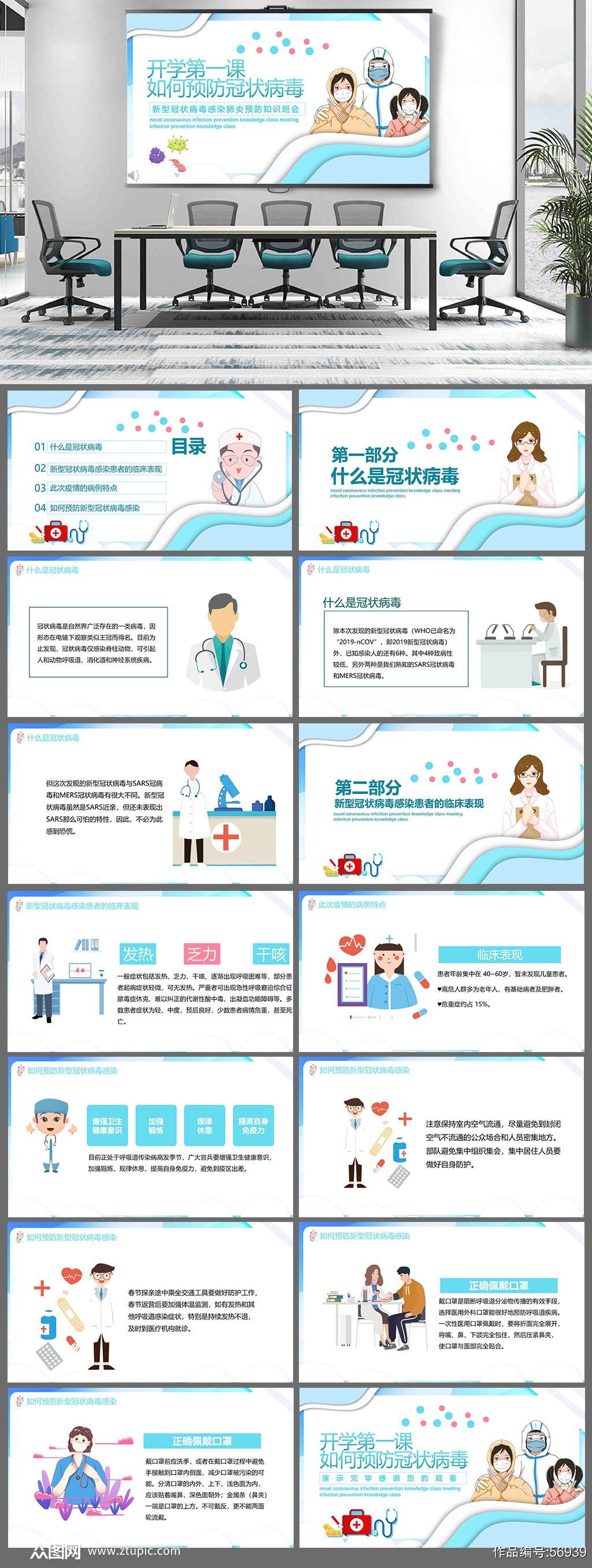 如何预防冠状病毒主题班会素材