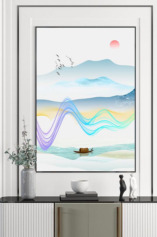 中式山水水墨装饰画-众图网