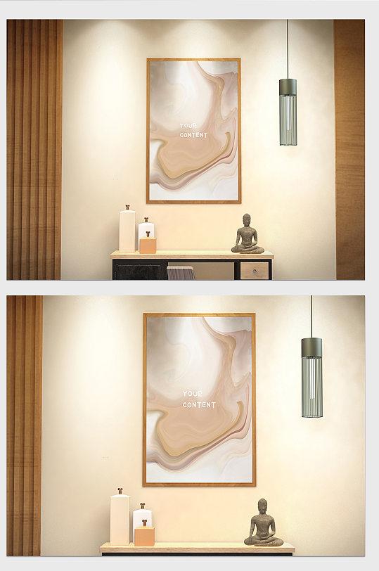 极简轻奢风格室内装饰画挂画画框贴图样机