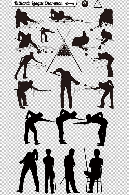 台球桌球剪影图片-众图网