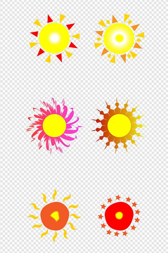 卡通可爱风格太阳套图-众图网